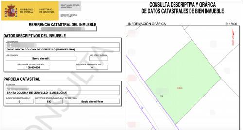 Terreno en Santa Coloma de Cervelló en Venta por 90.000€